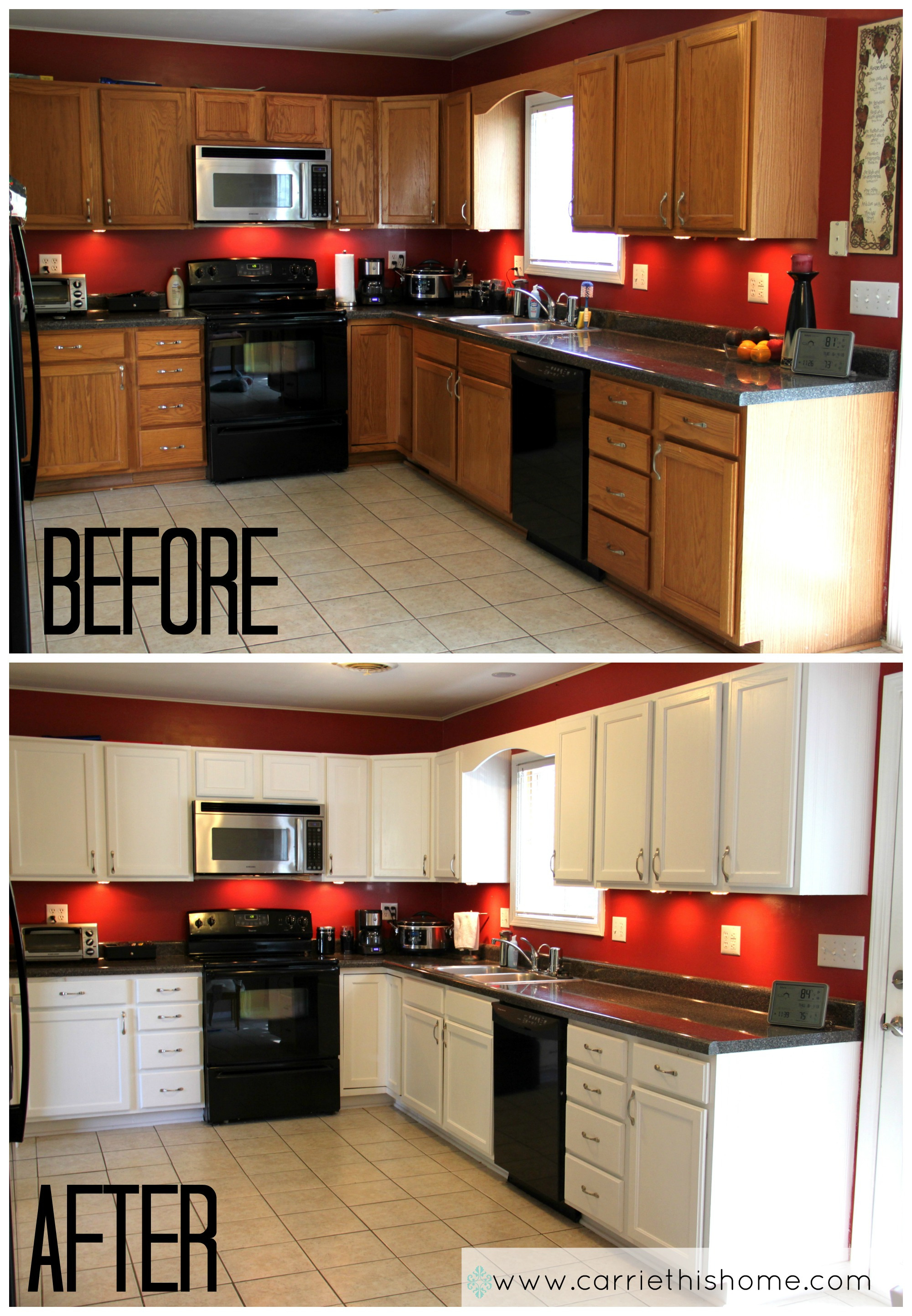 Mobile Home Cabinet Doors New How to Paint Cabinets Should I Oak White before and after