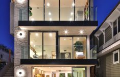 Modern And Luxury Home Design Awesome Beachfront Luxury Modern Home Exterior At Night