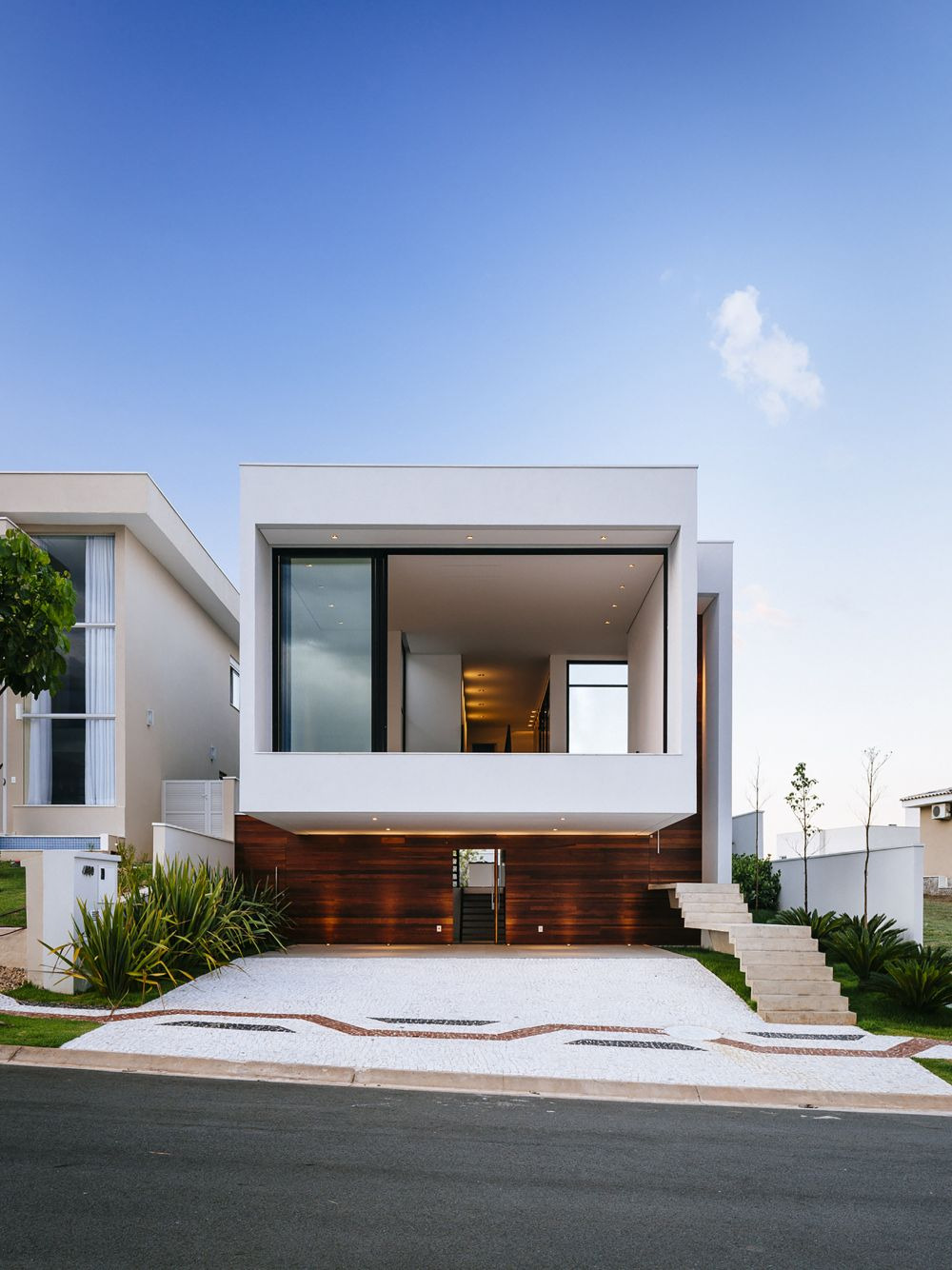 Modern house with a plain roof style