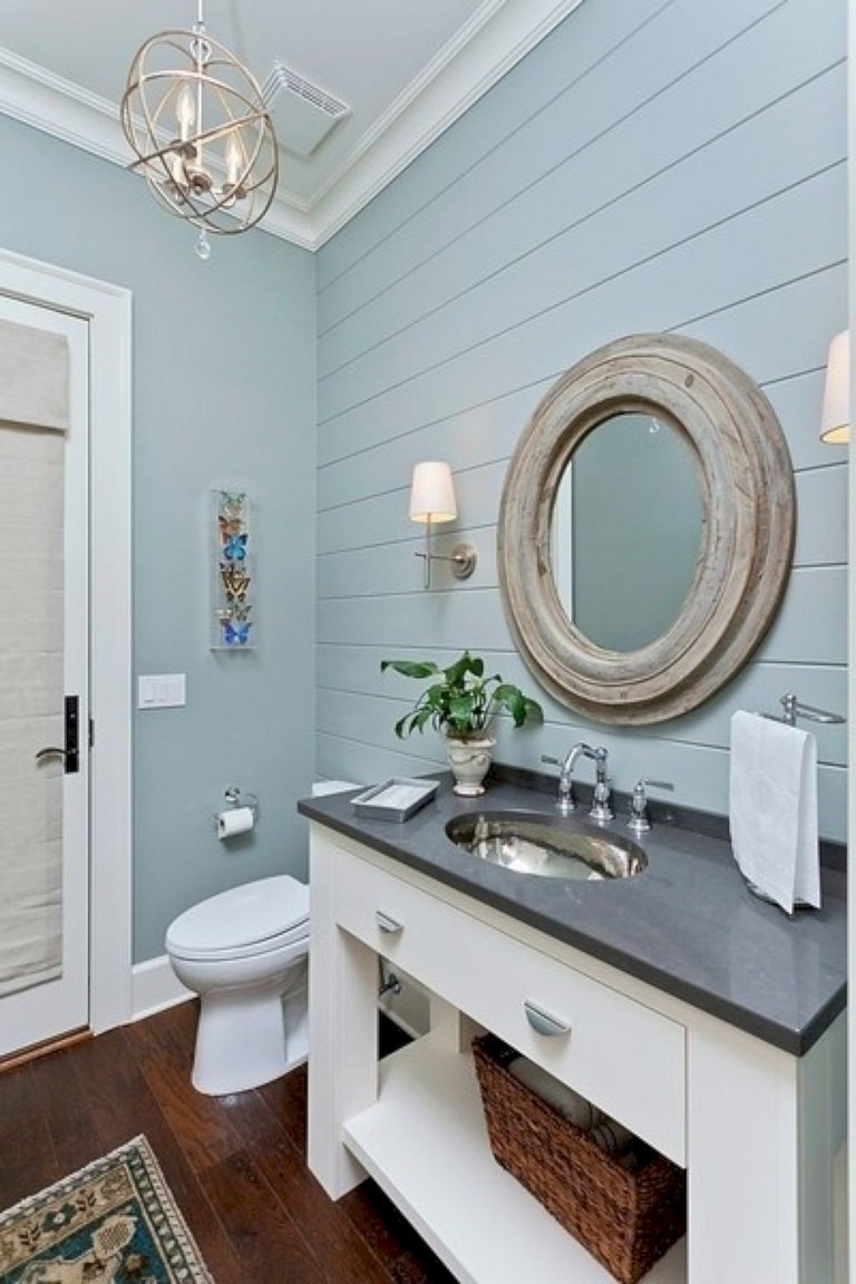 35 Amazing Coastral Nautical Bathroom Decor Ideas 01