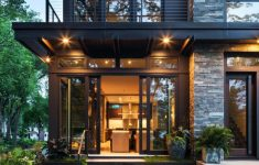 Outer Decoration Of House Luxury Idyllic Contemporary Residence With Privileged Views Of Lake