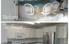 Overlay Cabinet Doors Lovely Kitchen Makeover From Partial Overlay To Inset