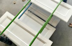 Paint Drying Rack For Cabinet Doors Awesome The Epic How To Paint Your Kitchen Cabinets Tutorial