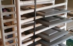 Paint Drying Rack For Cabinet Doors Inspirational Our Kitchen S New Gray Cabinets Are Gorgeous