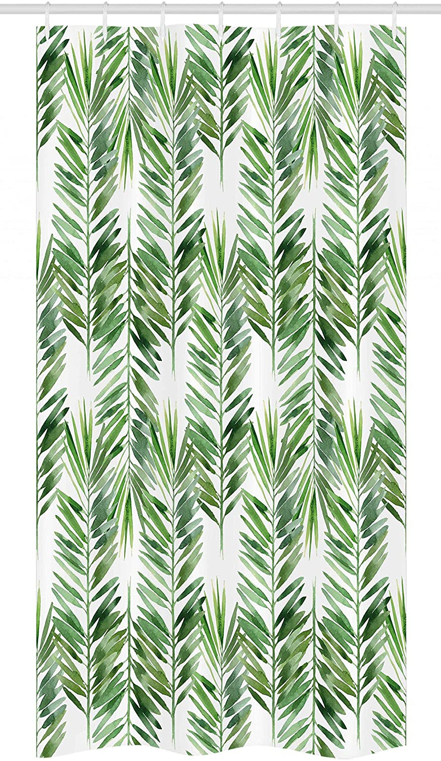 Palm Tree Bathroom Decor Unique Ambesonne Palm Tree Stall Shower Curtain Watercolor Tropical Tree Branches Evergreen Leaf Featured Plant Design Fabric Bathroom Decor Set with