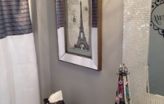 Paris Themed Bathroom Decor Luxury Glitter Painted Walls Valspar Paint With 6 Bags Of Glitter
