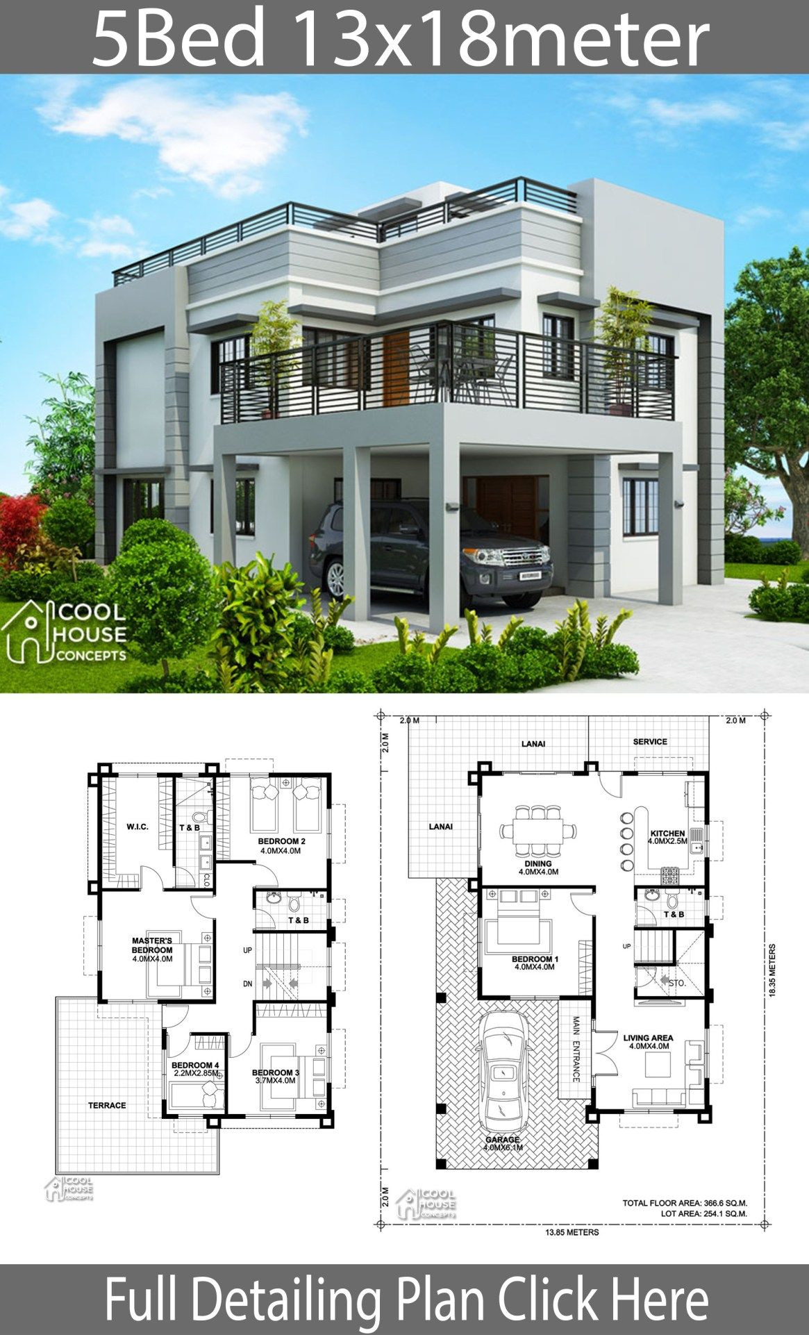 Plan for Houses Design Luxury Home Design Plan 13x18m with 5 Bedrooms