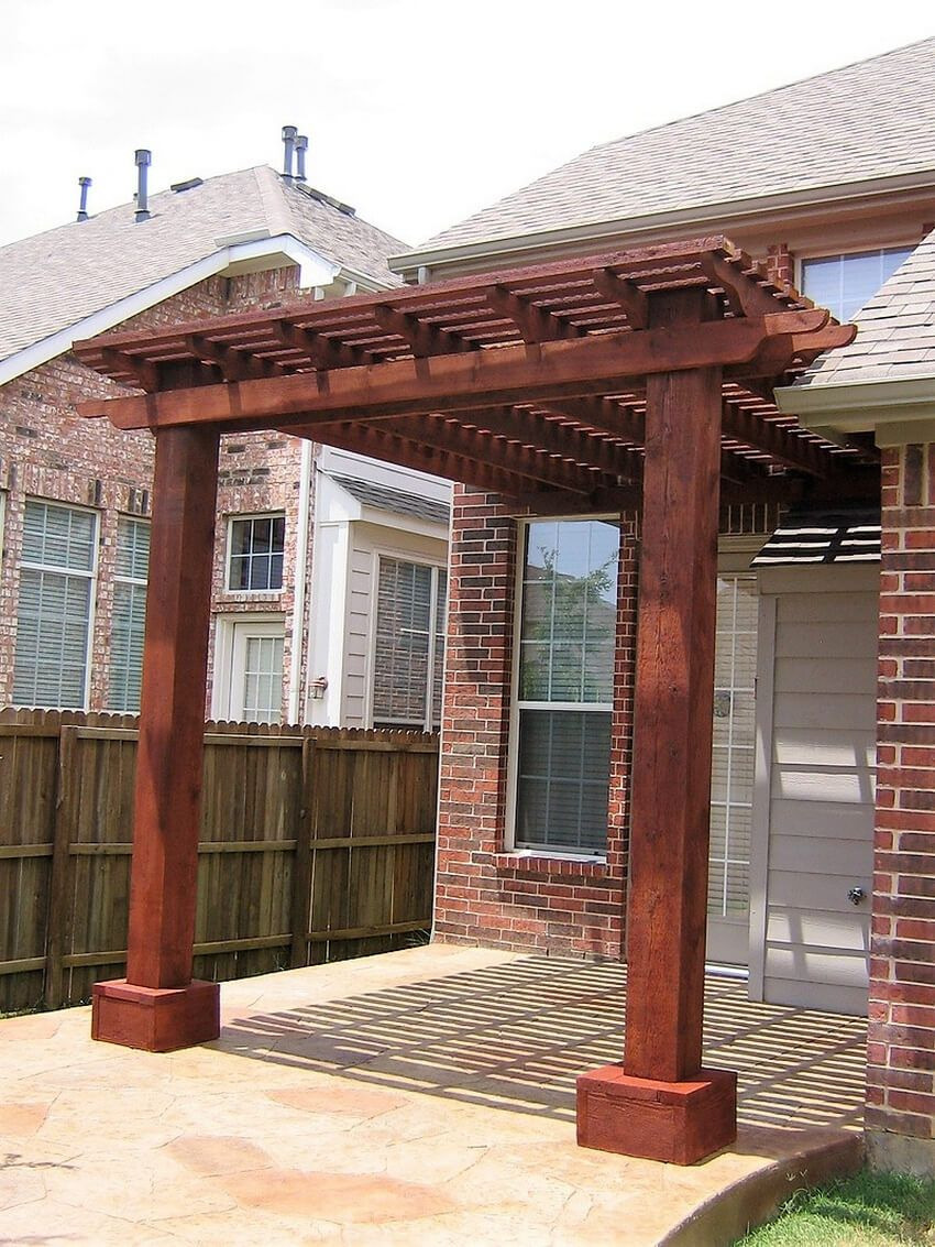 Plans for Pergola attached to House Fresh Shaded attached Pergola Design Plans for Your Home