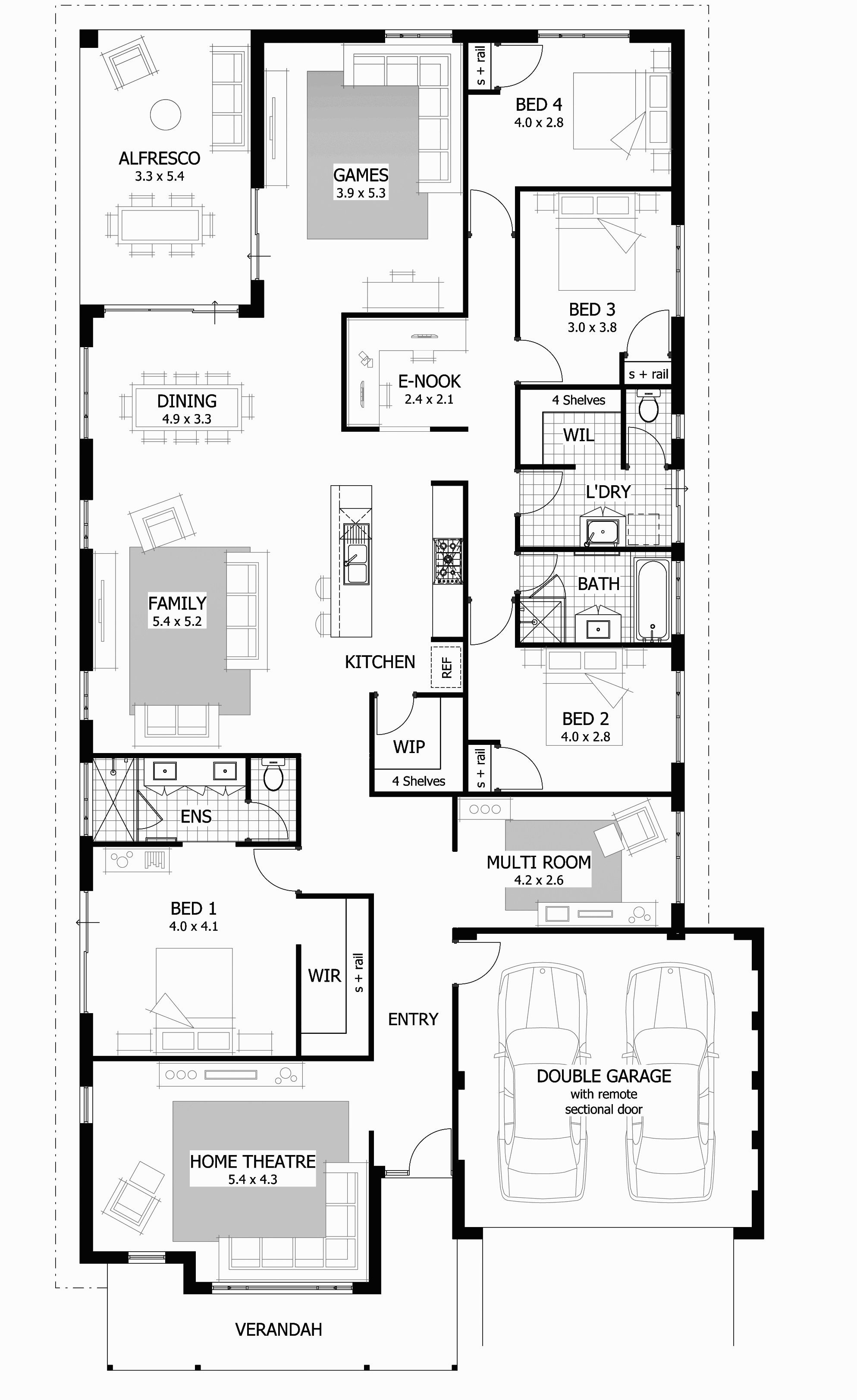 Ranch Style House Plans with Open Floor Plans Awesome Open Floor House Plans E Story Nice 4 Bedroom Rectangular