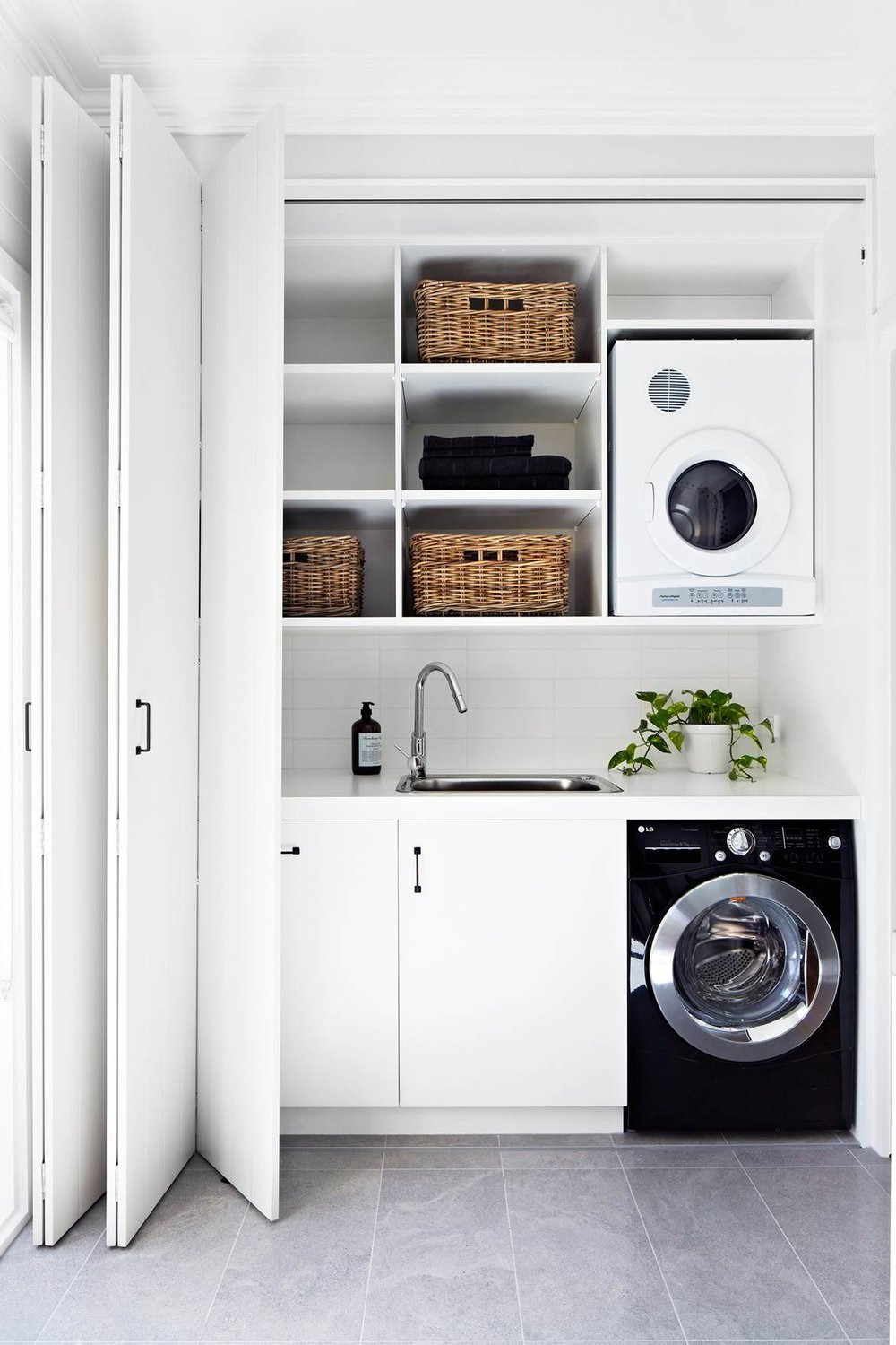 Retractable Cabinet Doors Fresh Discover the Best Doors for Your Small Laundry Alcove
