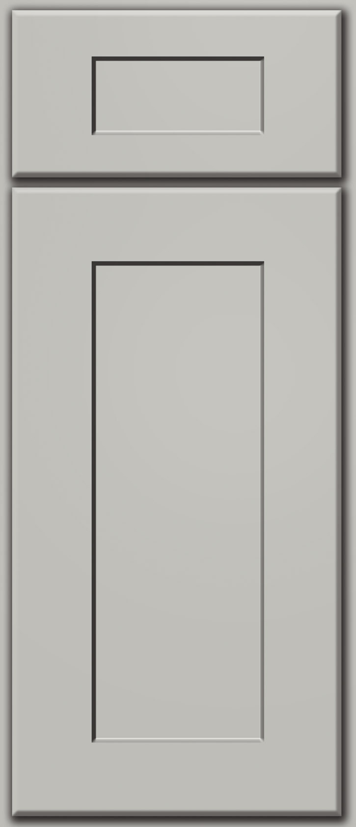 Light Grey Shaker Deluxe Door Sample Custom Cabinet Door Color p 747