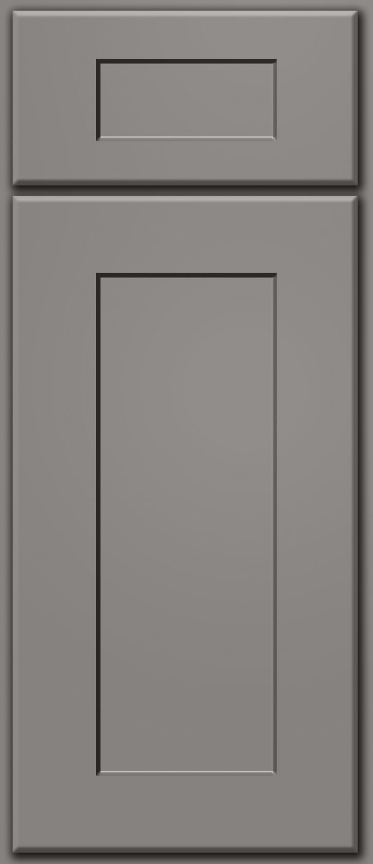 Dark Grey Shaker Deluxe Door Sample Custom Cabinet Door Color p 748