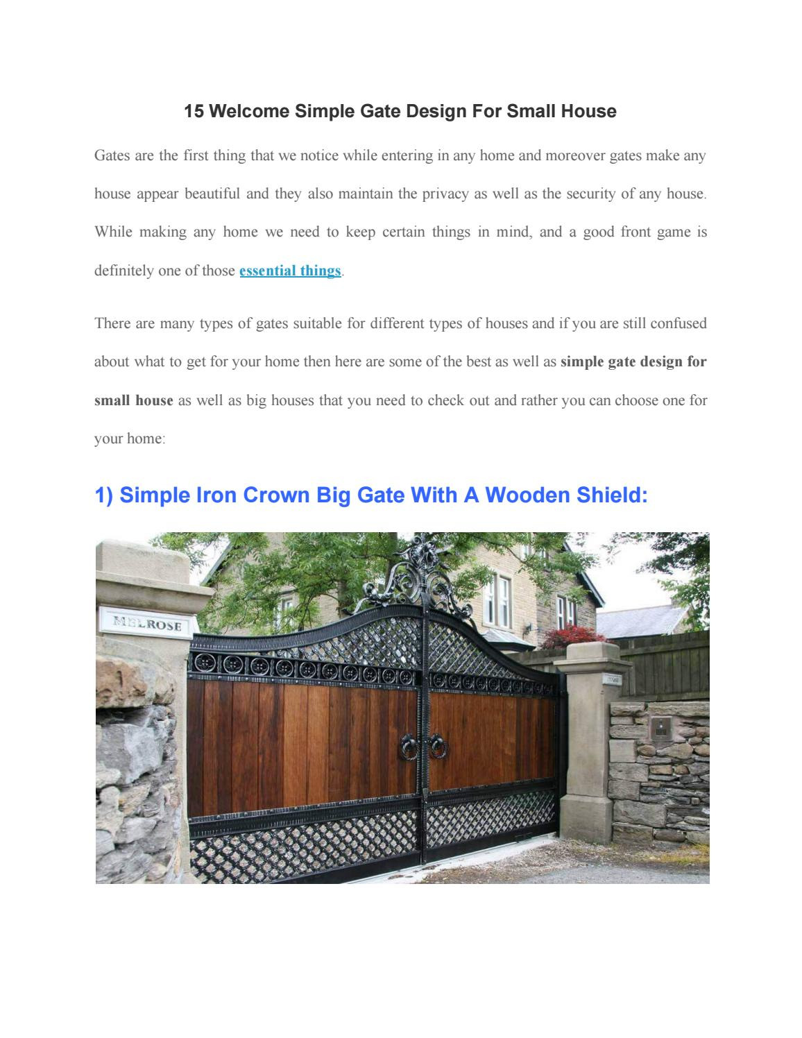 15 wel e simple gate design for s
