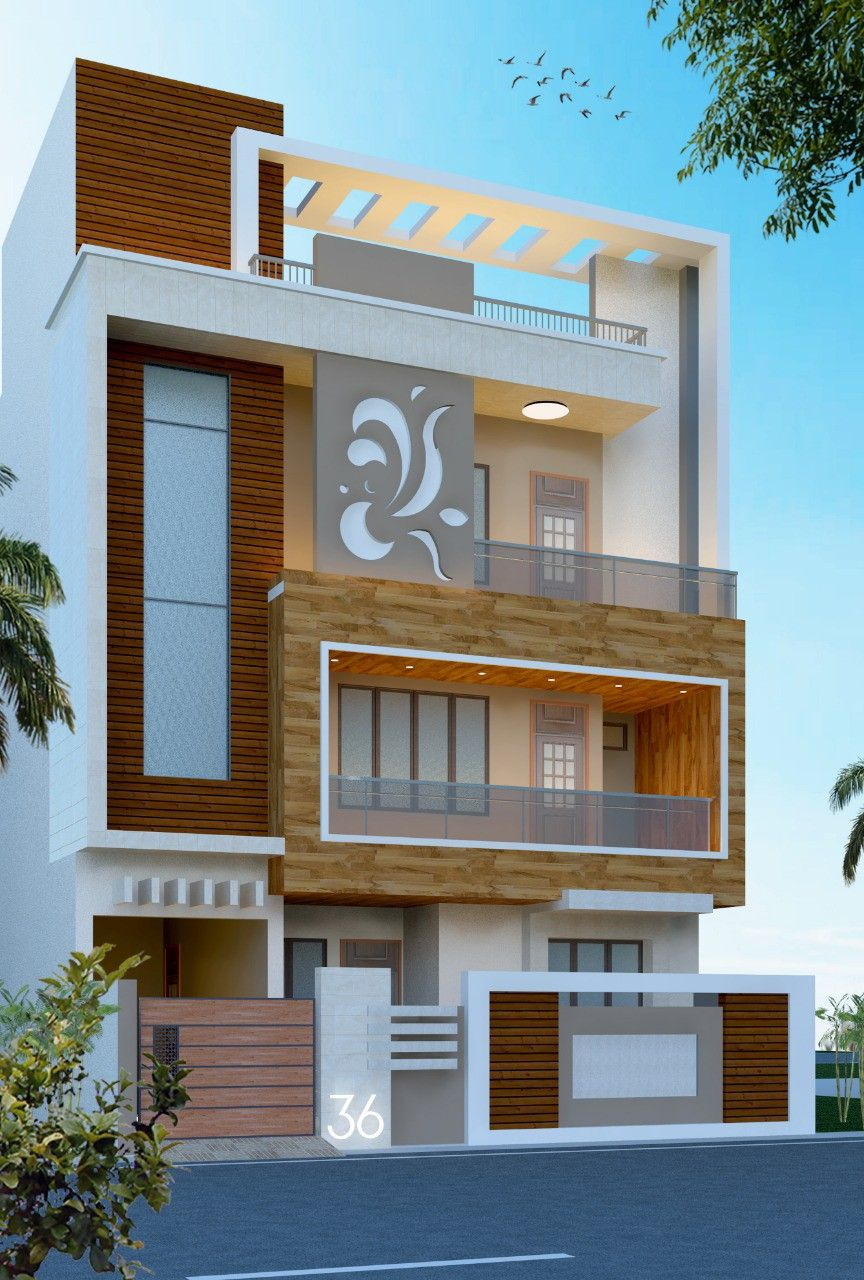 Simple House Front View Design New Friend Father Make Elevation for Client Requirements