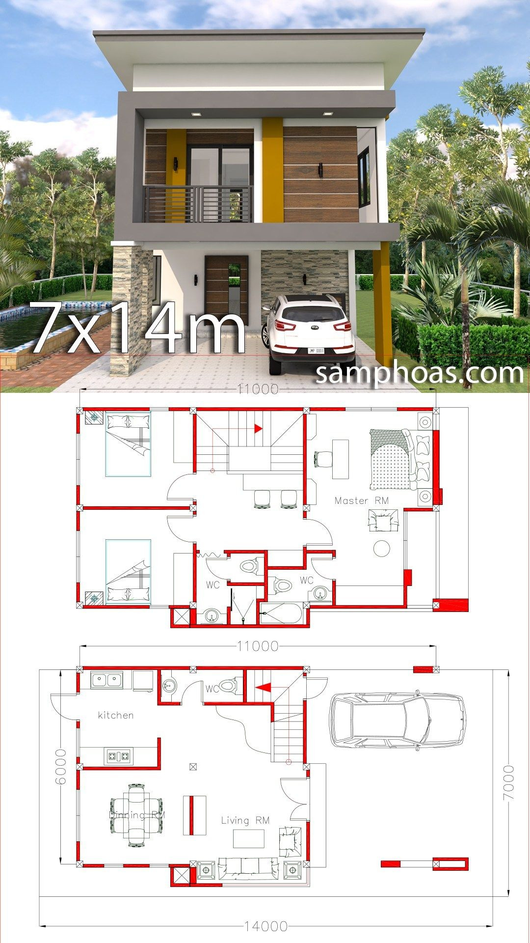 Simple Modern House Plans Photos Beautiful Small Home Design Plan 6x11m with 3 Bedrooms