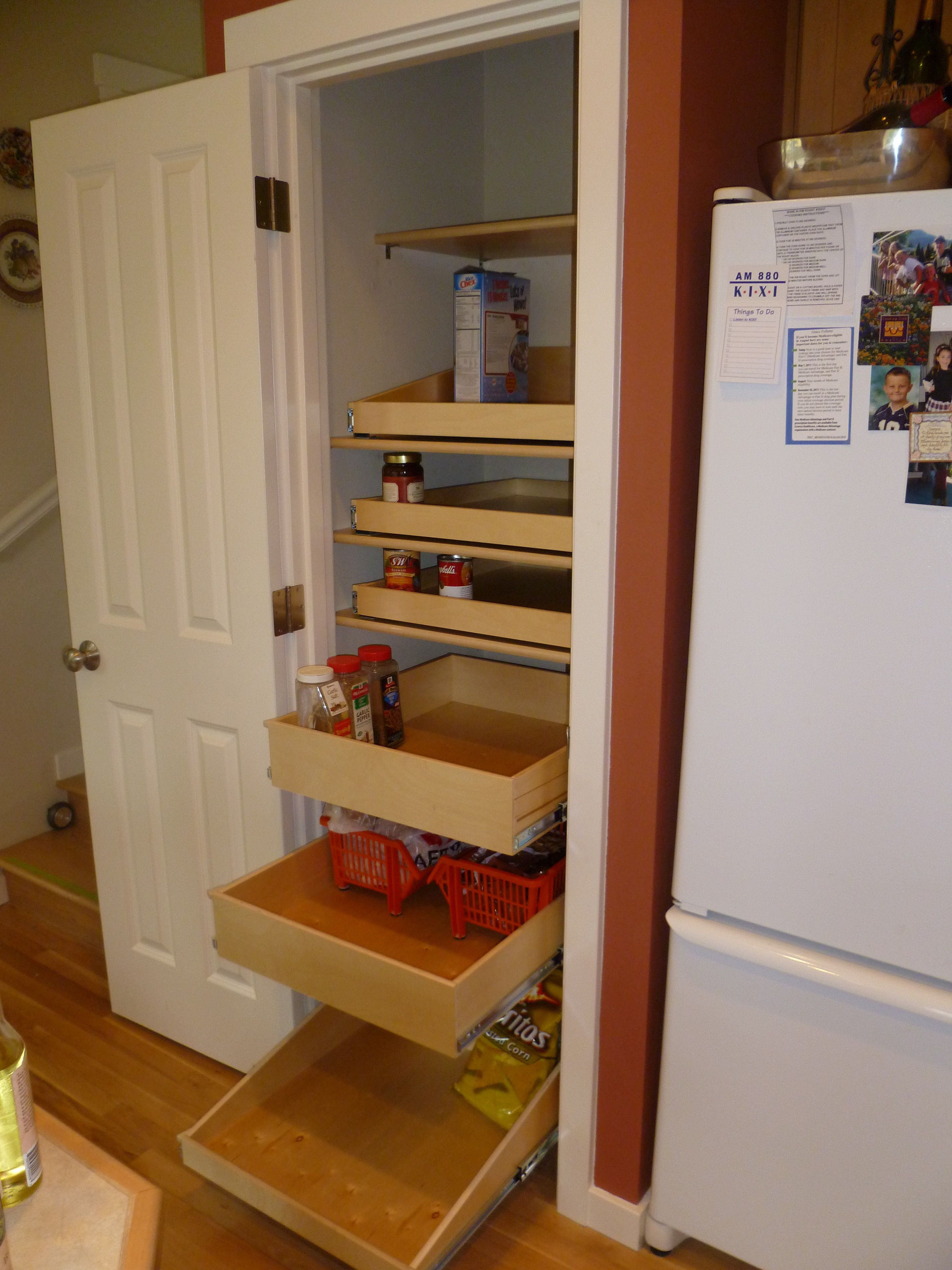 Single Door Pantry Cabinet Elegant Storage Racks and White Stained Wooden Frame Pantry with