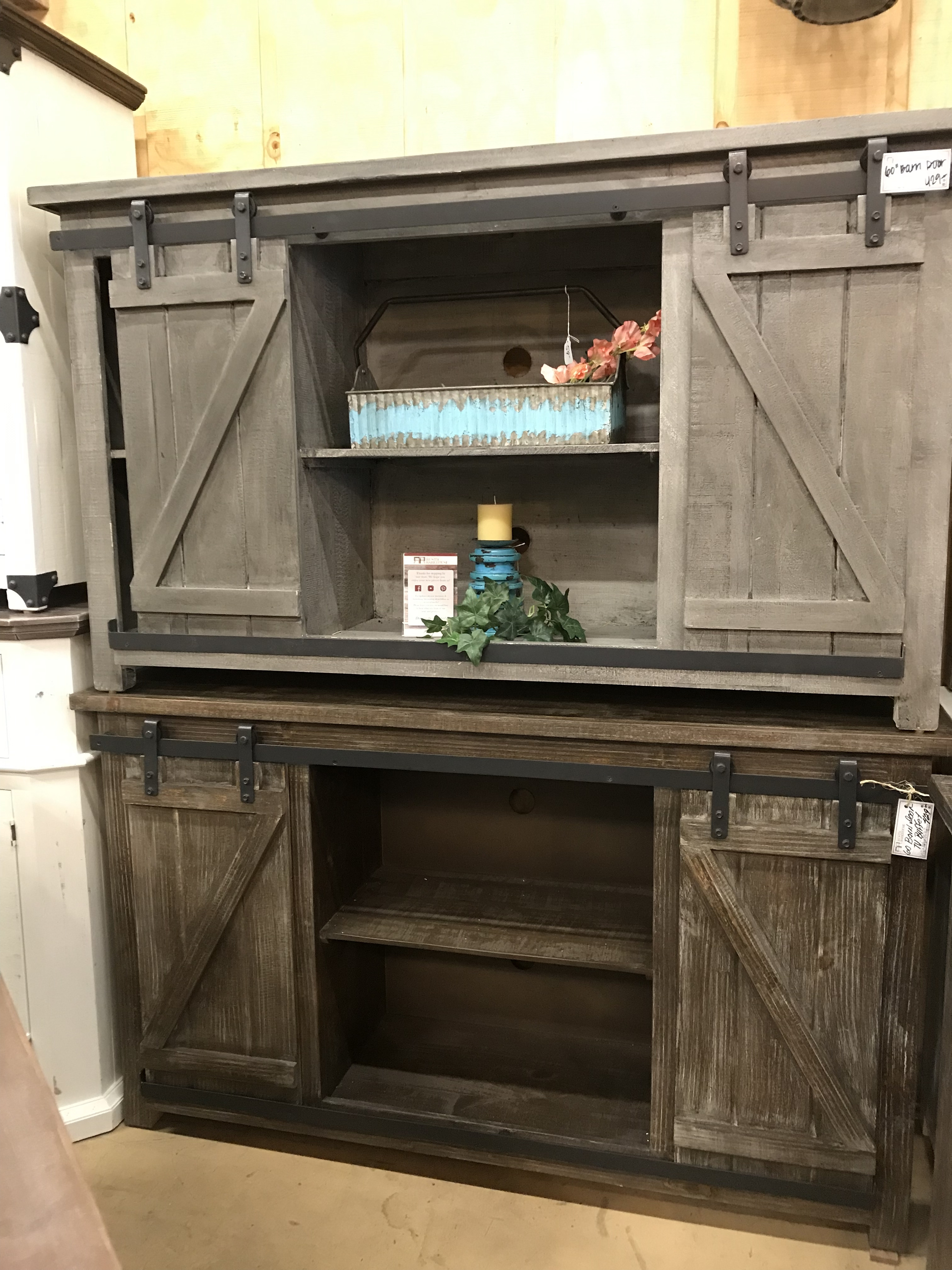 60 barn door grey barnwood