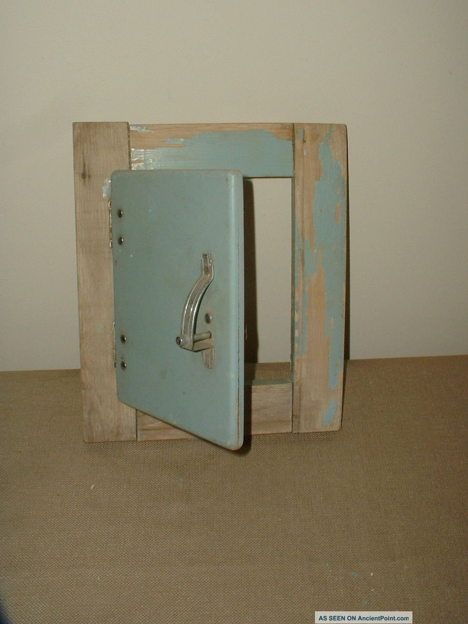 antique shabby painted small cabinet door labeled kitchen kraft art deco styling