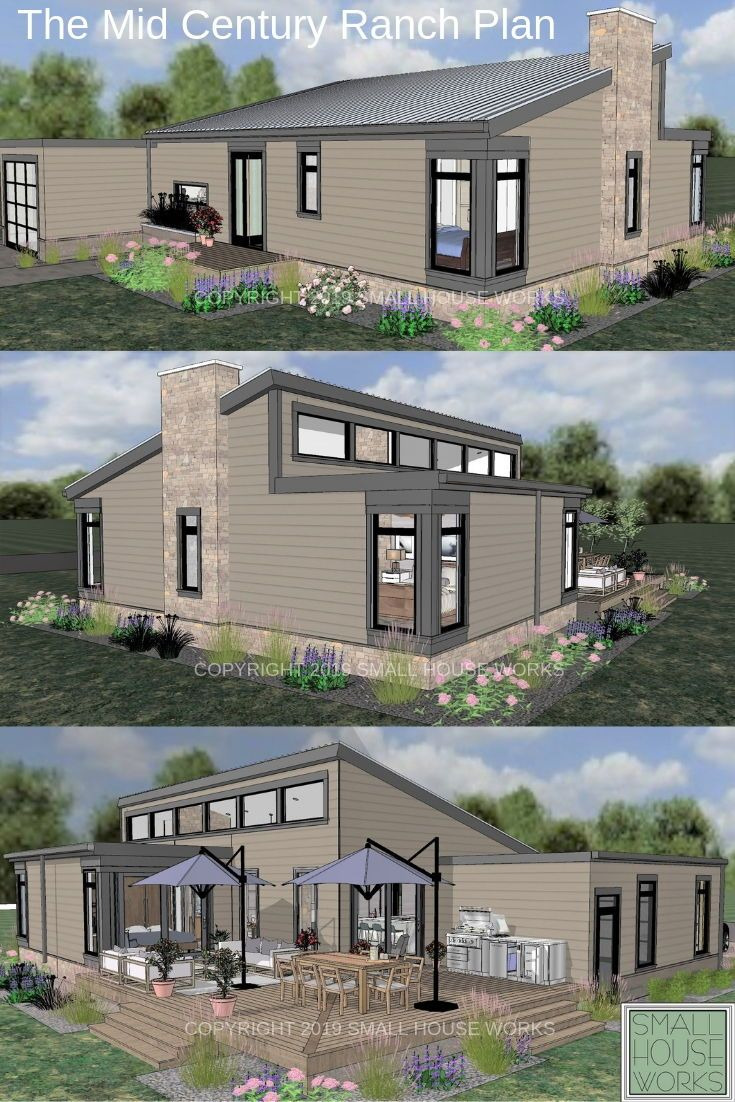 Small Eco Friendly House Plans Inspirational Small Mid Century Modern Ranch Plan Just Under 1 200 Sq Ft
