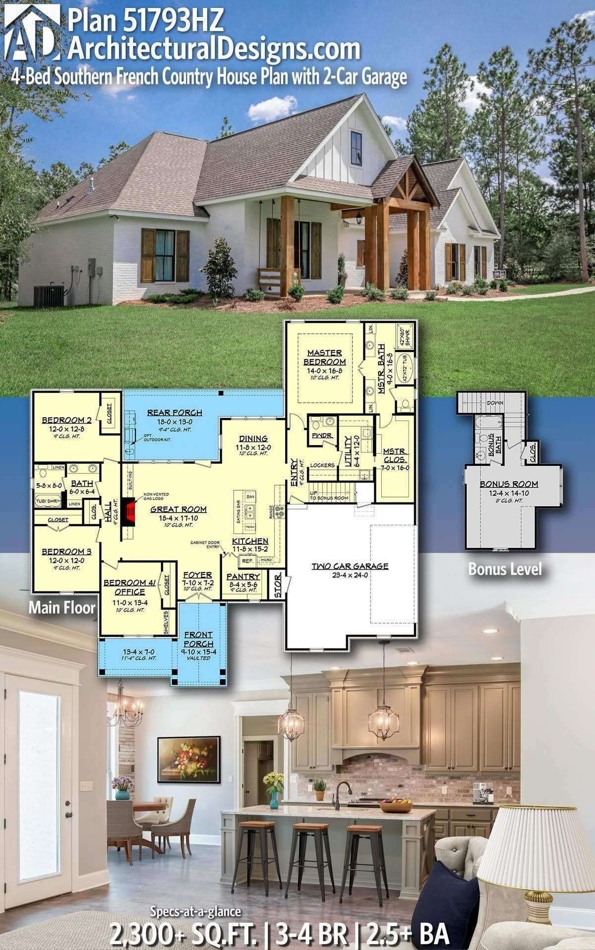 Small French House Plans Lovely Plan Hz 4 Bed southern French Country House Plan with