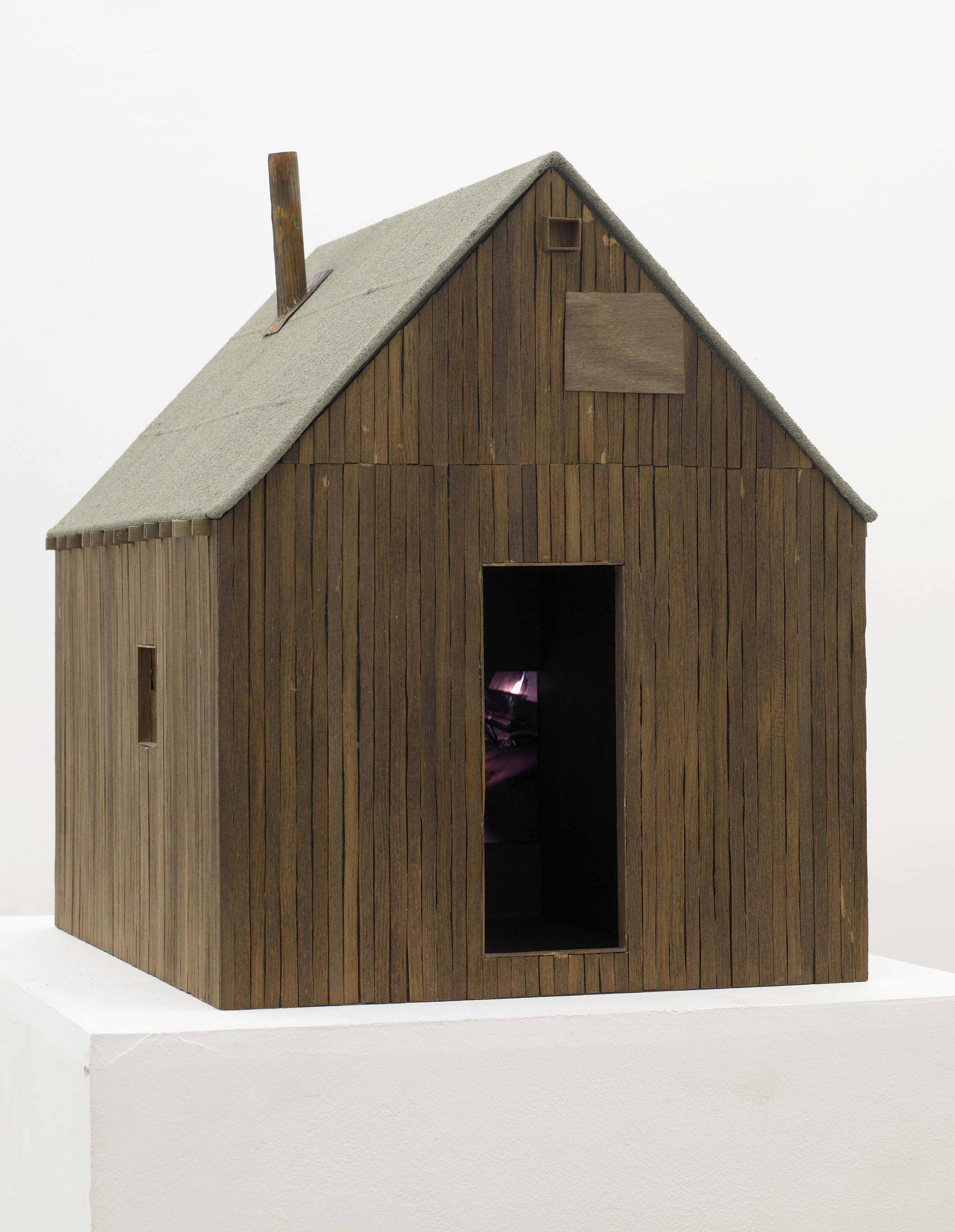 File Small wooden house model