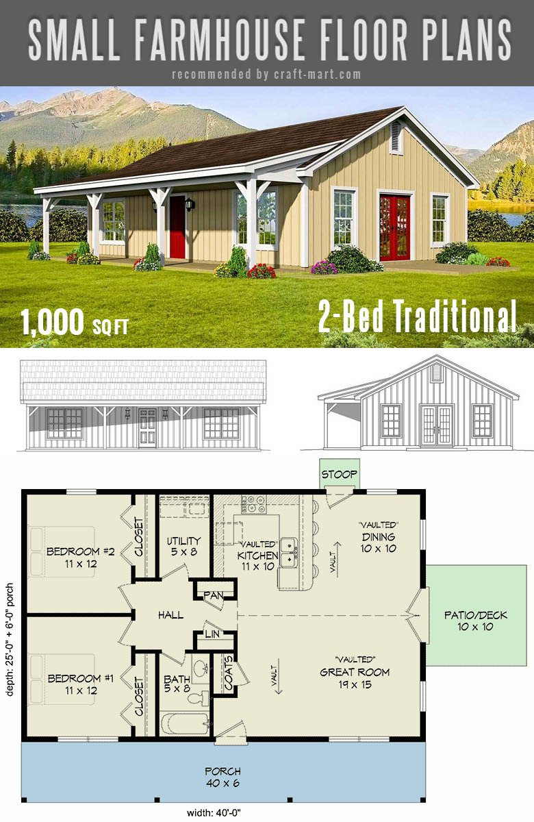 Small Single Level House Plans New Small Farmhouse Plans for Building A Home Of Your Dreams