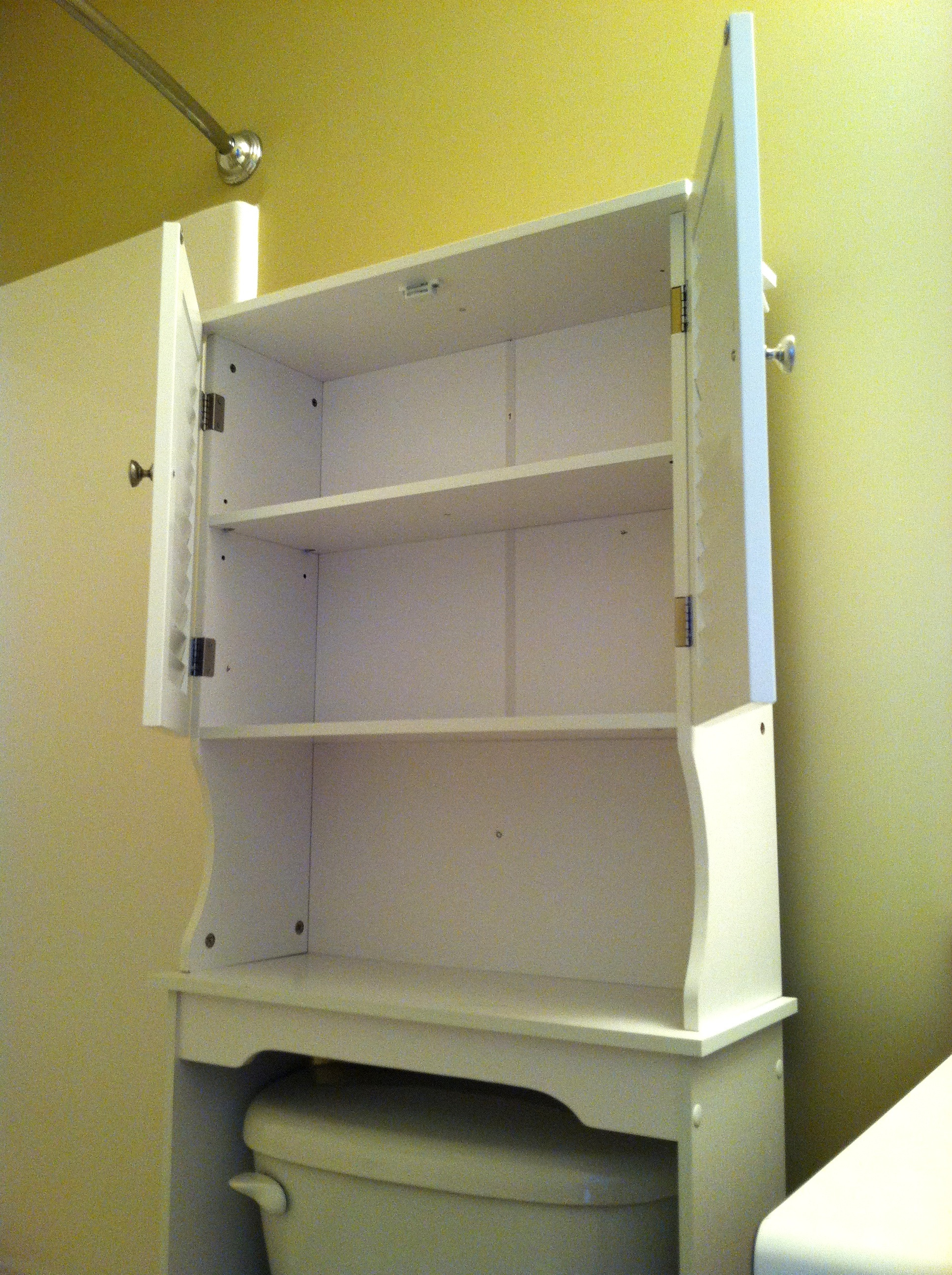 Small Storage Cabinet with Doors Beautiful White Wooden Bathroom Cabinet with Double Doors and Three