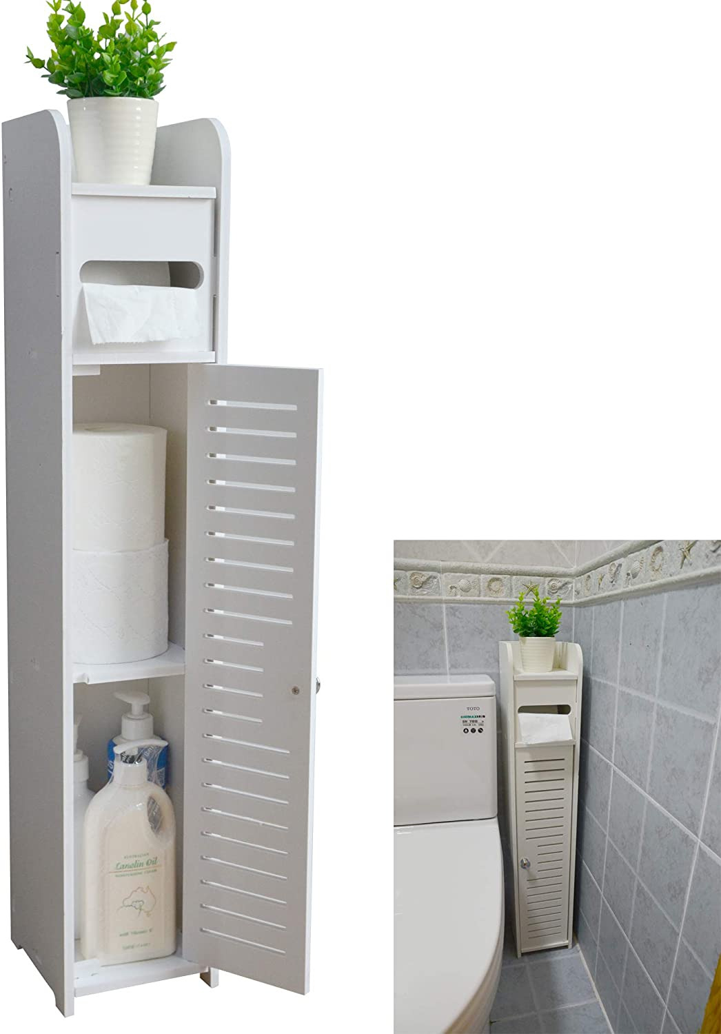 Small Storage Cabinet with Doors Inspirational Aojezor Small Bathroom Storage Corner Floor Cabinet with Doors and Shelves Thin toilet Vanity Cabinet Narrow Bath Sink organizer towel Storage
