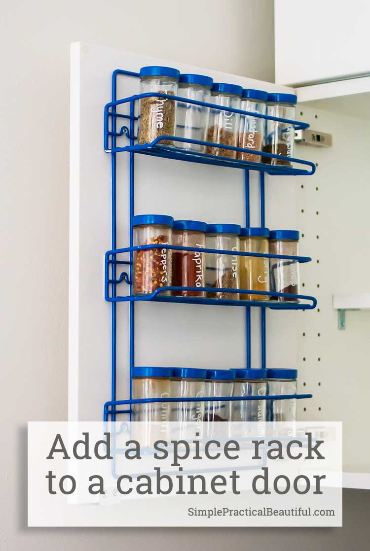 cabinet door spice rack tutorial