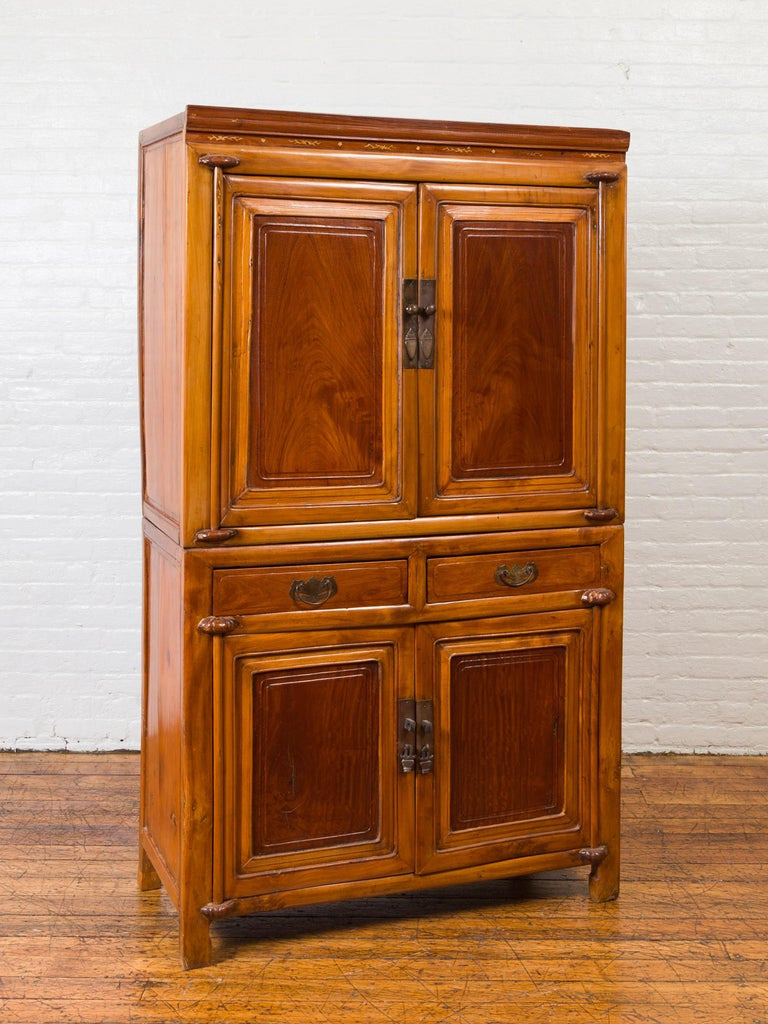 Antique Chinese Two Toned Cabinet 9 master