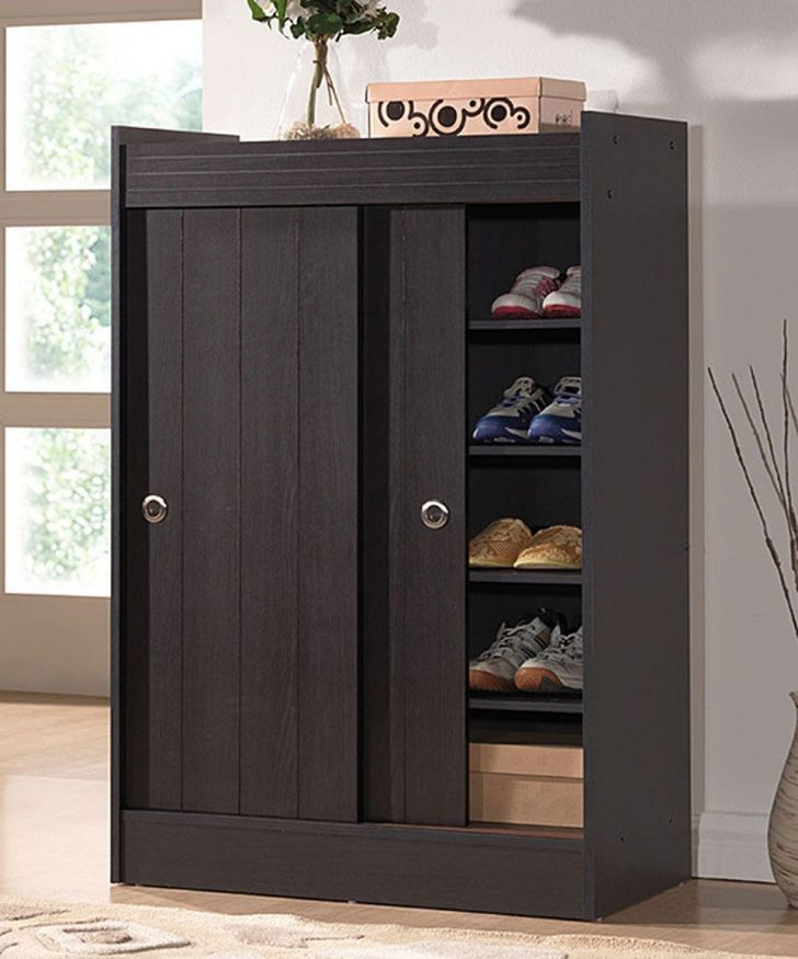 Tall Shoe Cabinet with Doors 2021