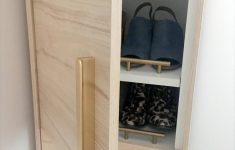 Tall Shoe Cabinet With Doors Luxury A Classy Tall Shoe Cabinet To Fit Small Entryways Ikea Hackers