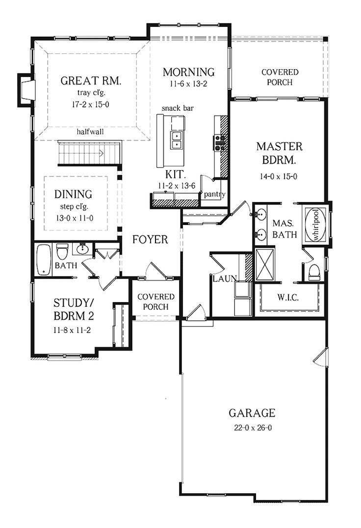 Two Bedrooms House Plans Fresh Ranch House Plans with Basement Bedrooms