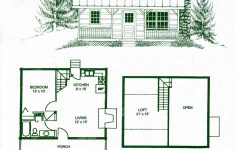 Very Small Cottage House Plans New Small Cabin With Loft Floorplans