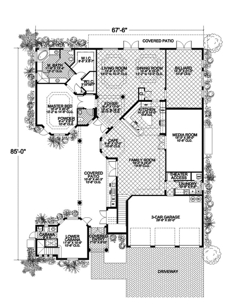 caribbean design style luxury villa 5 bedrooms 4 baths tropical house plans