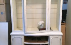 White China Cabinet With Glass Doors Elegant Farmhouse China Cabinet Makeover With Shiplap Girl In The