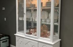 White China Cabinet With Glass Doors Luxury Dark China Cabinet Painted In A White Oil Paint Front