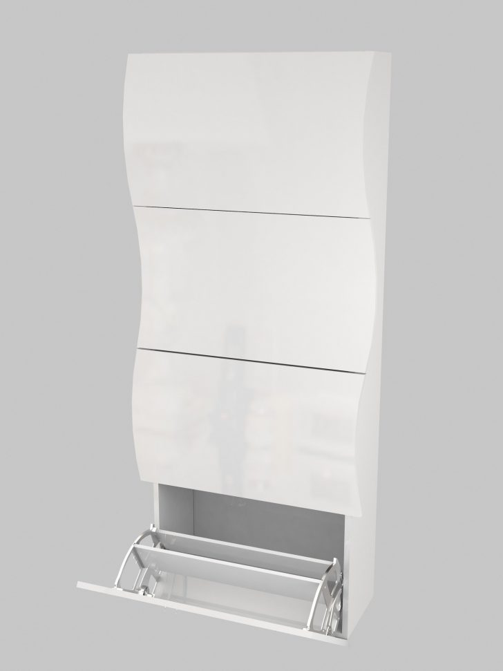 White Shoe Cabinet with Doors 2021