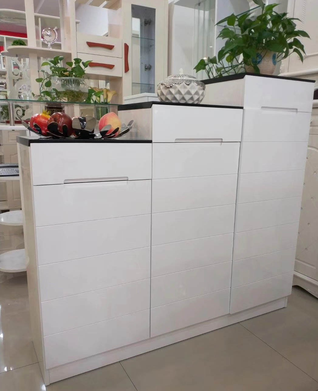 White Shoe Cabinet with Doors Best Of Gloss White Shoe Cabinet 3 Doors and 3 Drawers