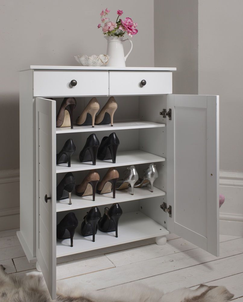 White Shoe Cabinet with Doors Fresh Details About Shoe Storage Cabinet Cupboard with 2 Storage