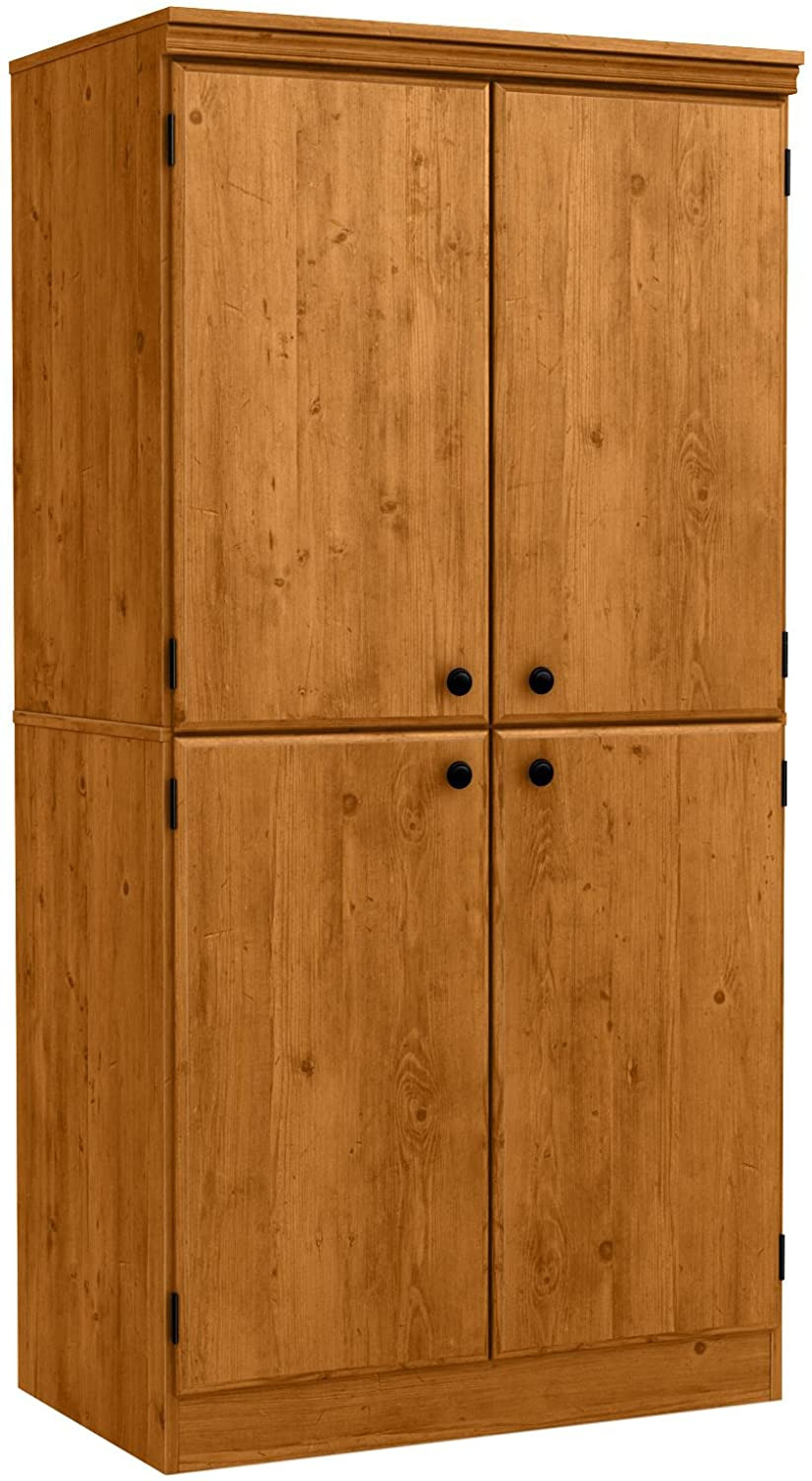 4 Door Storage Cabinet New south Shore Tall 4 Door Storage Cabinet with Adjustable Shelves Country Pine