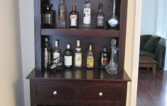 Bar Cabinet With Glass Doors Awesome Custom Liquor Cabinet With Glass Racks Open Shelving