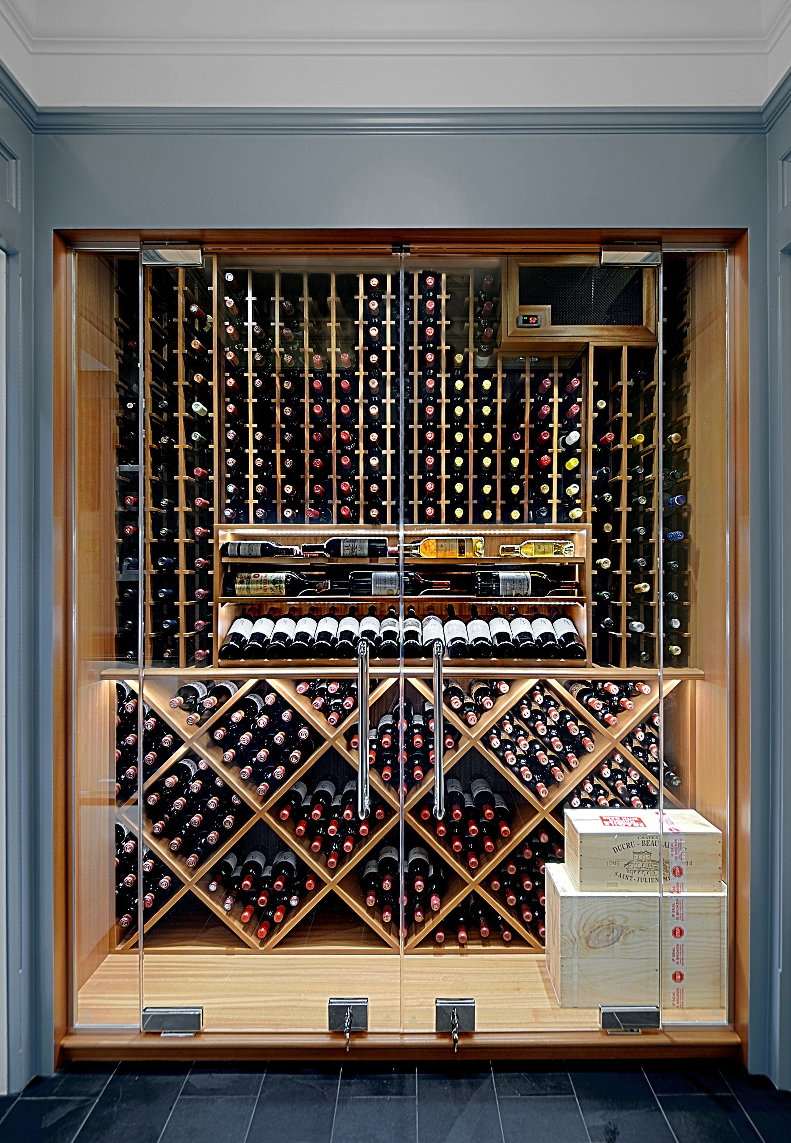 Bar Cabinet with Glass Doors Lovely Custom Wine Cabinet In Chicago Has Full Height Glass Doors