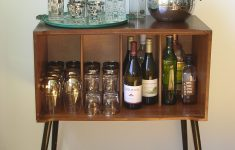 Bar Cabinet With Glass Doors Luxury Vintage Record Cabinet Bar I Took Off The Sliding Doors And