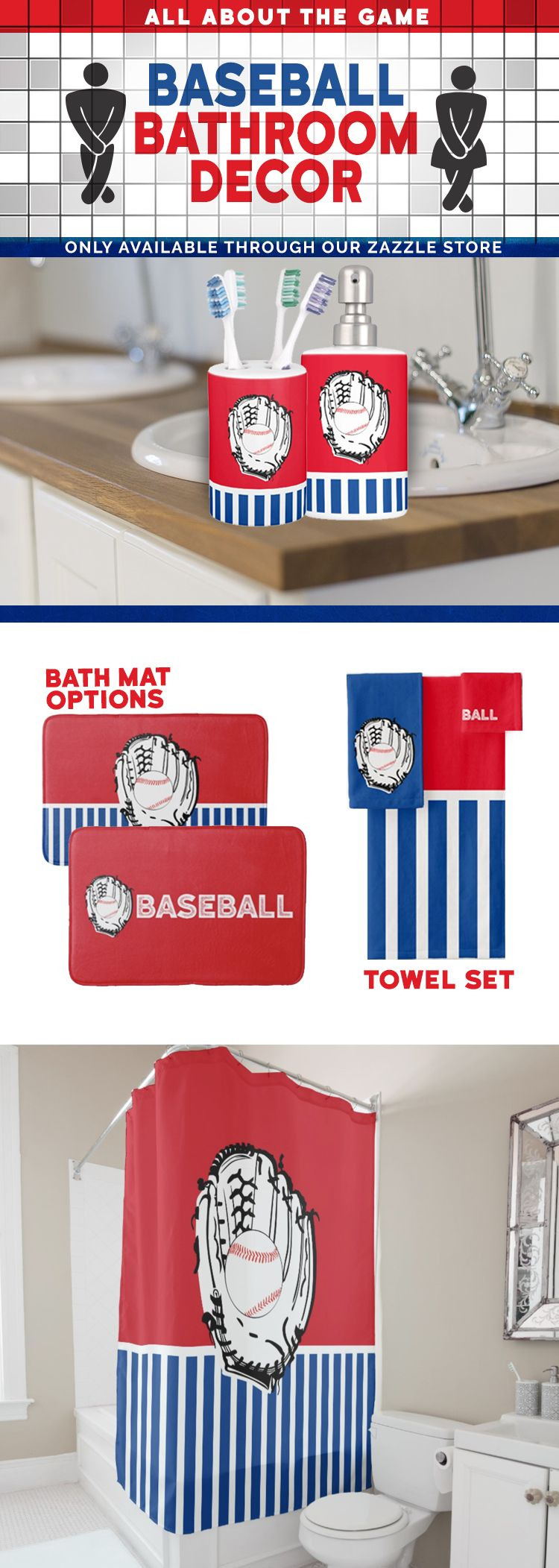 Baseball Bathroom Decor Awesome Score A Win with This Baseball Bathroom Set Read More About