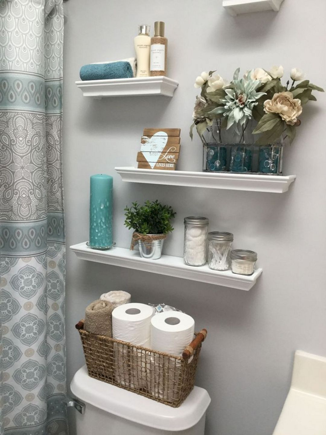 wonderful bathroom shelves ideas
