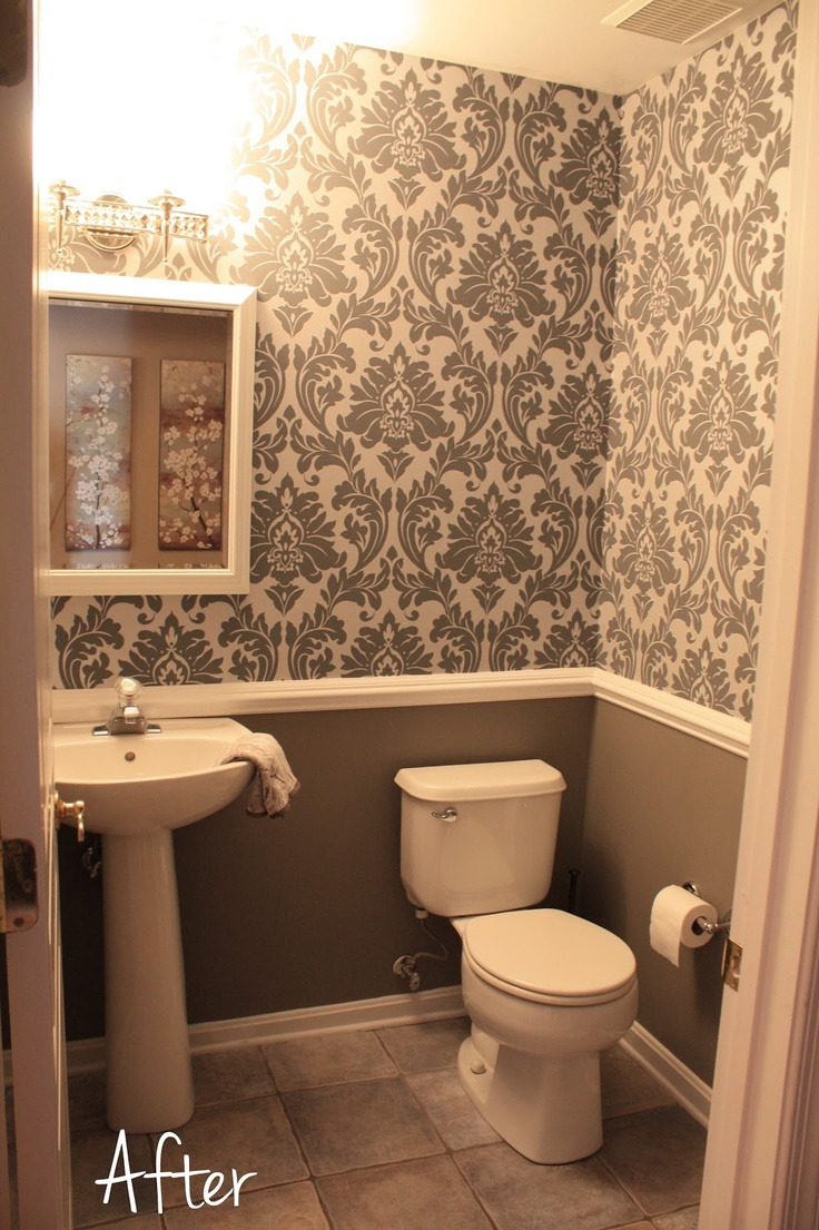 beautiful bathroom wallpaper decorating ideas of bathroommodern 58a d aba bdf092d6 then striking photo for table