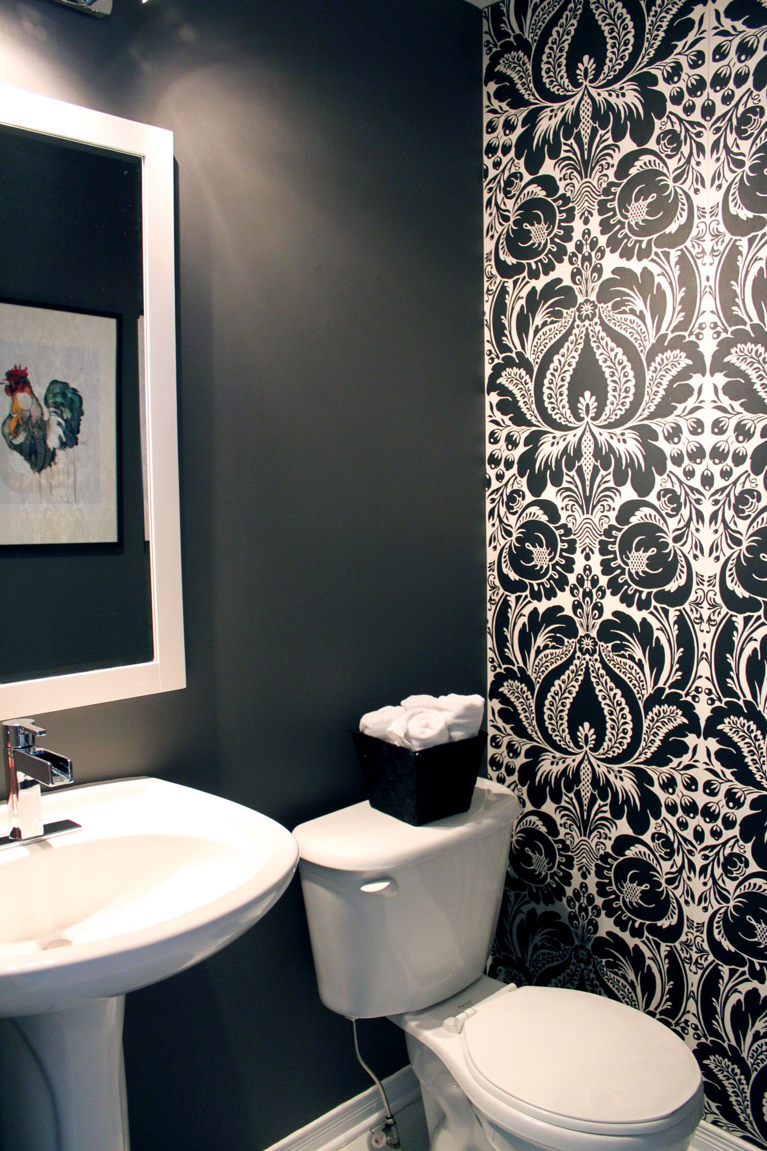 Bathroom Wallpaper Decorating Ideas Fresh I Like the Idea Of Doing 1 Wall In A Powder Room with A