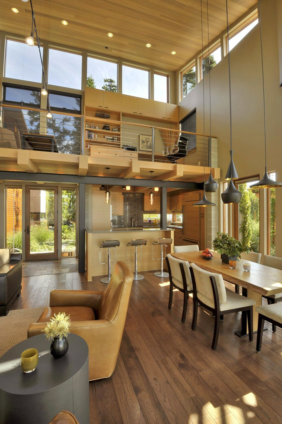 Beautiful House Interior Pictures Lovely Beautiful Lakefront House with Windows Surrounded by