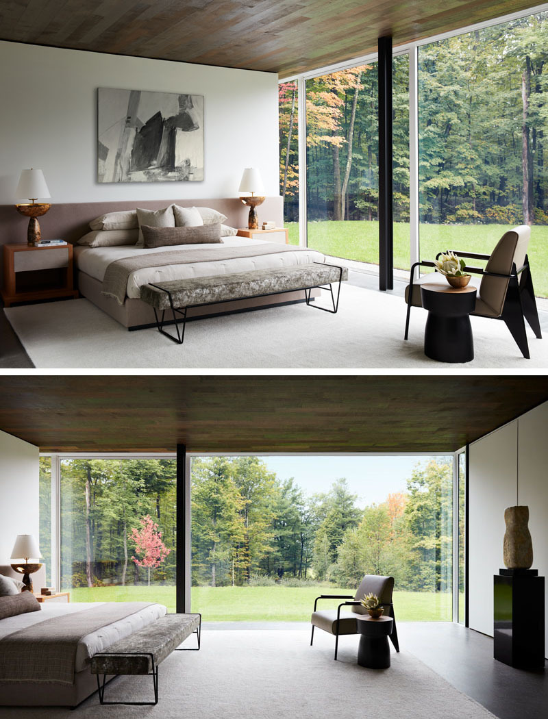 Bedroom with Glass Walls Awesome Modern Bedroom with Glass Walls 1141 08